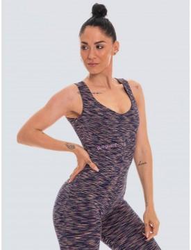 Colorful purple lycra jumpsuit