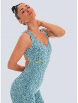 Colorful Aquamarine lycra jumpsuit