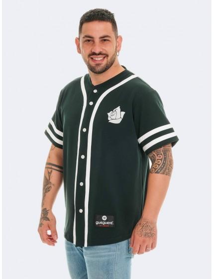 Baseball style t-shirt green