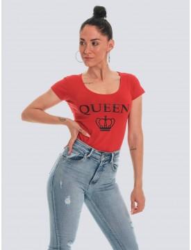 Camiseta mujer Queen roja