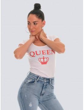Queen t-shirt white