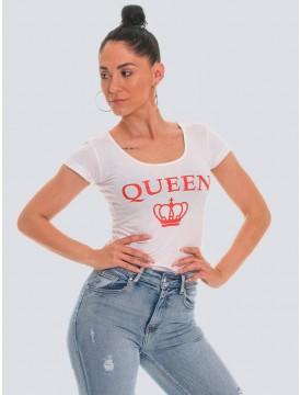Camiseta Queen blanca