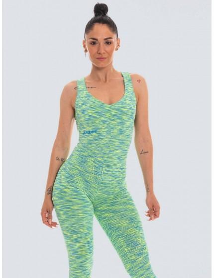 Colorful green lycra jumpsuit
