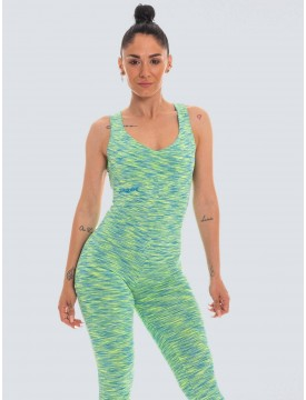 Colorful green lycra jumpsuit