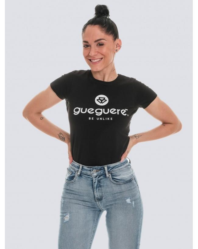 Camiseta Guegueré Basic negra mujer