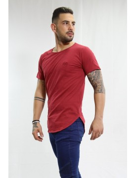 One Long bordeaux t-shirt