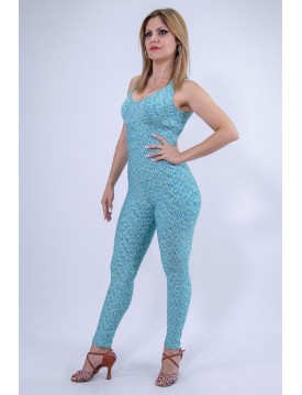 Lycra turquoise jumsuit