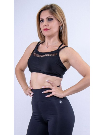 Dance top black lycra