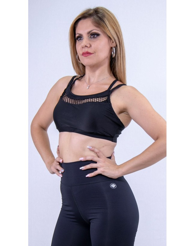Dance top black lycra