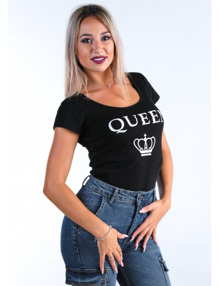 Queen t-shirt black