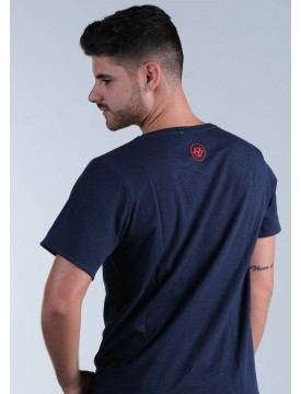 Camiseta One Long azul