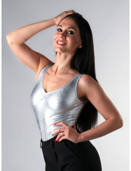 Bodysuit Glitter Silver