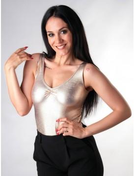 Bodysuit Glitter Gold