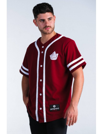 Camiseta Baseball Style Burdeos