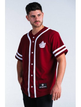 Baseball style t-shirt burgundy