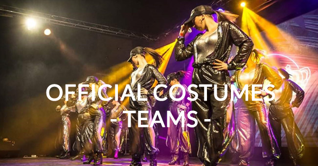 Official costumes for teams